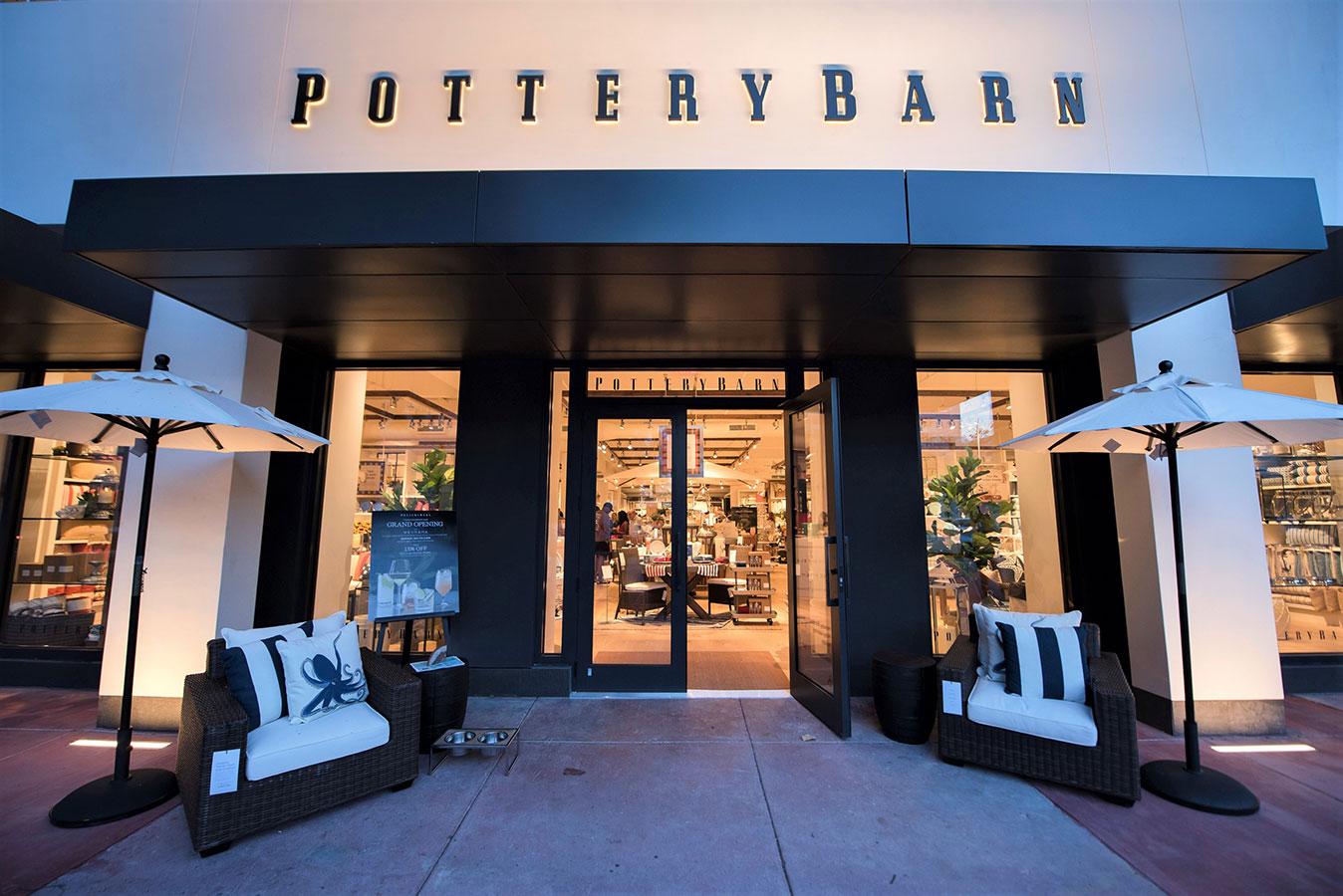Pottery Barn entrance